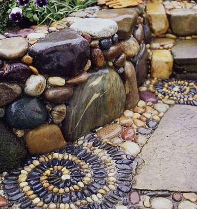 Мозаика из камня в современном интерьере