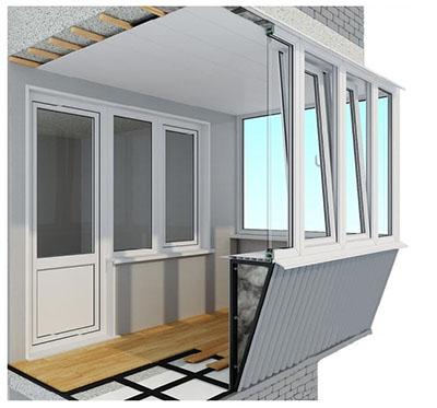 Эффективность и функциональность в единой конструкции балкона с выносом