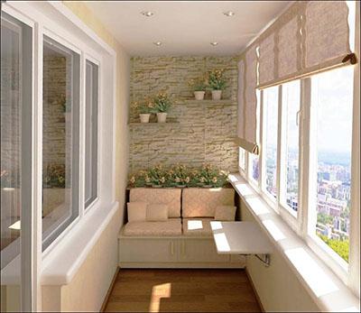 Выбор отделки потолка и стен лоджии